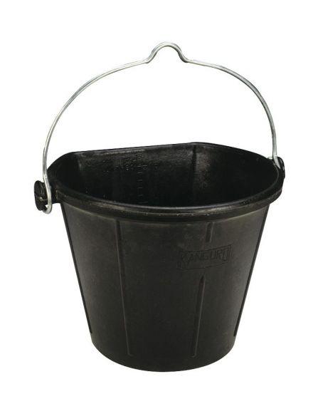 Ekkia Emmer Rubber 17 liter zwart