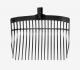 Horze V-Plast Mestvork+ Steel zwart