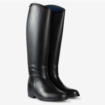 Horze Rubberen Laarzen Gevoerd zwart